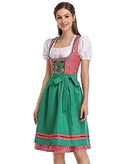 Amazon.com: Dirndl World 3 piezas Disfraz de Baviera dirndl ...