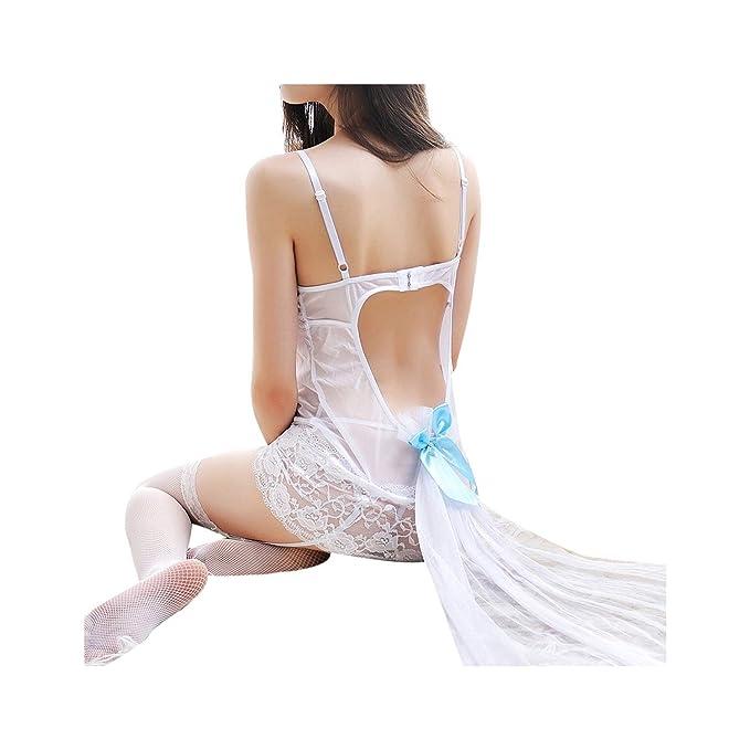 Amazon.com: Conjunto de lencería erótica de encaje sexy para ...
