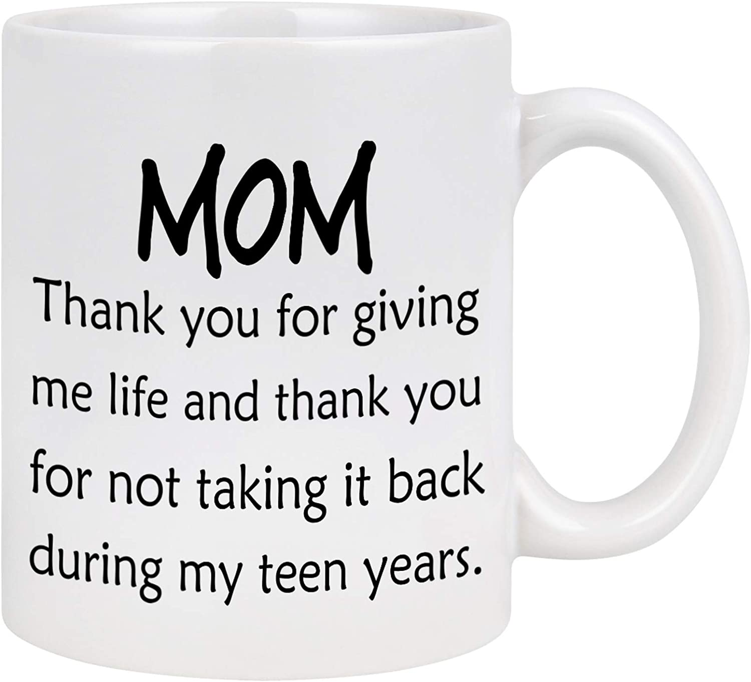 Mother/'s Day Gift Coffee Mugs Son Daughter Birthday Gift For Mom 11oz White