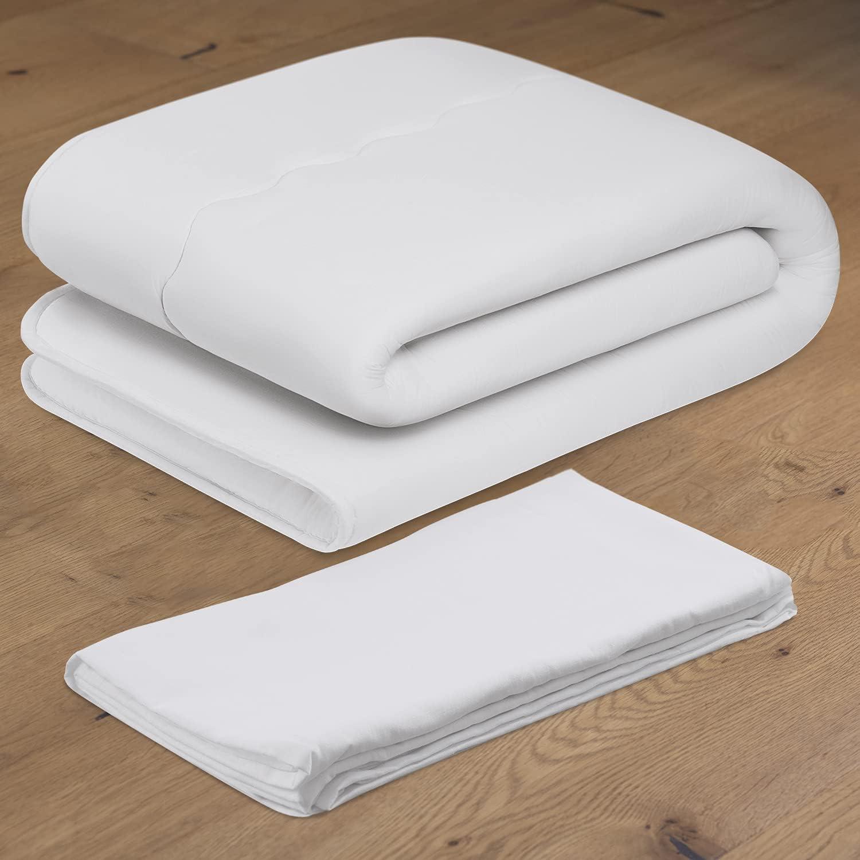 Luxton Home Japanese Shiki Futon with Sheet - Foldable Mattress for Sleep & Travel - Full Long