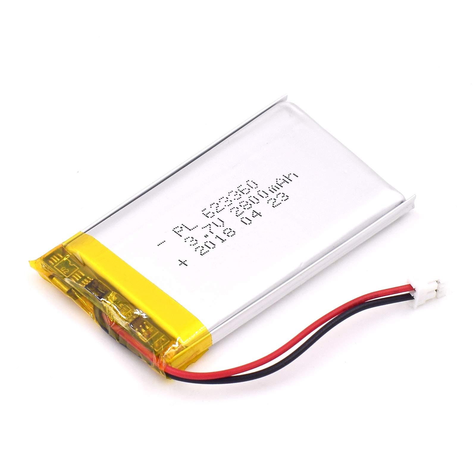 Bateria Lipo 3.7V 2800mAh 623360 Recargable JST Conector