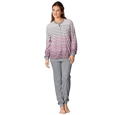 size 40 ffe14 4ecdf hajo Damen-Schlafanzug Frottee: hajo: Amazon.de: Bekleidung