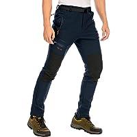 DAFENP Pantalones Trekking Hombre Impermeables Pantalones de Trabajo Termicos Montaña Senderismo Esqui Snowboard…