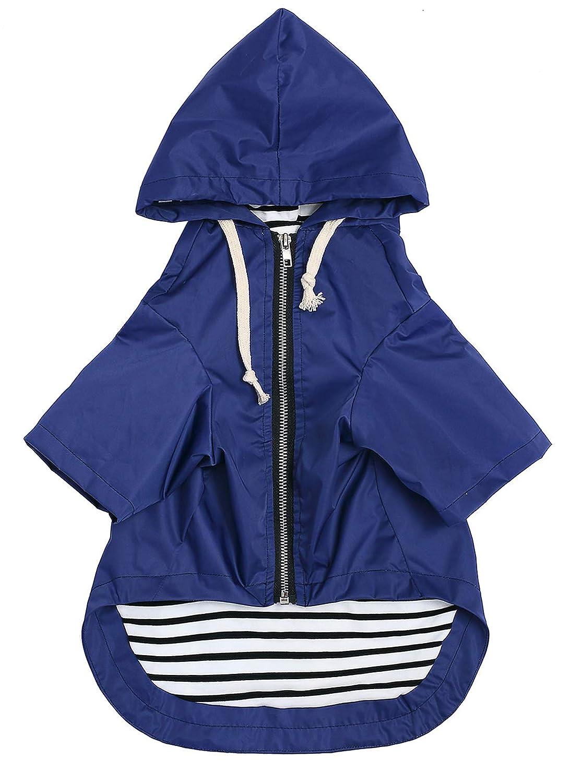 Red Size XS to XXL Available Morezi Dog Zip Up Dog Raincoat With Hood,Rain//Water Resistant,Adjustable Drawstring,Pocket Design,Stylish Dog Raincoats XXL