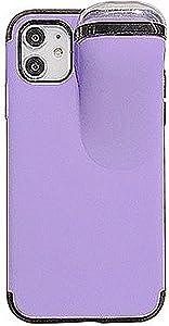 VooDirop Smart Design 2 in 1 Combined for iPhone XR Earphones Phone Case with Airpods Holder (Purple, iPhone XR)