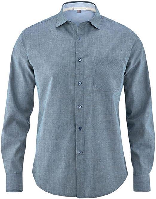 HEMPAGE Camisa para Hombre Butch DH -023 para Business y Tiempo Libre de cáñamo y algodón orgánico Stripes Blue X-Large: Amazon.es: Ropa y accesorios