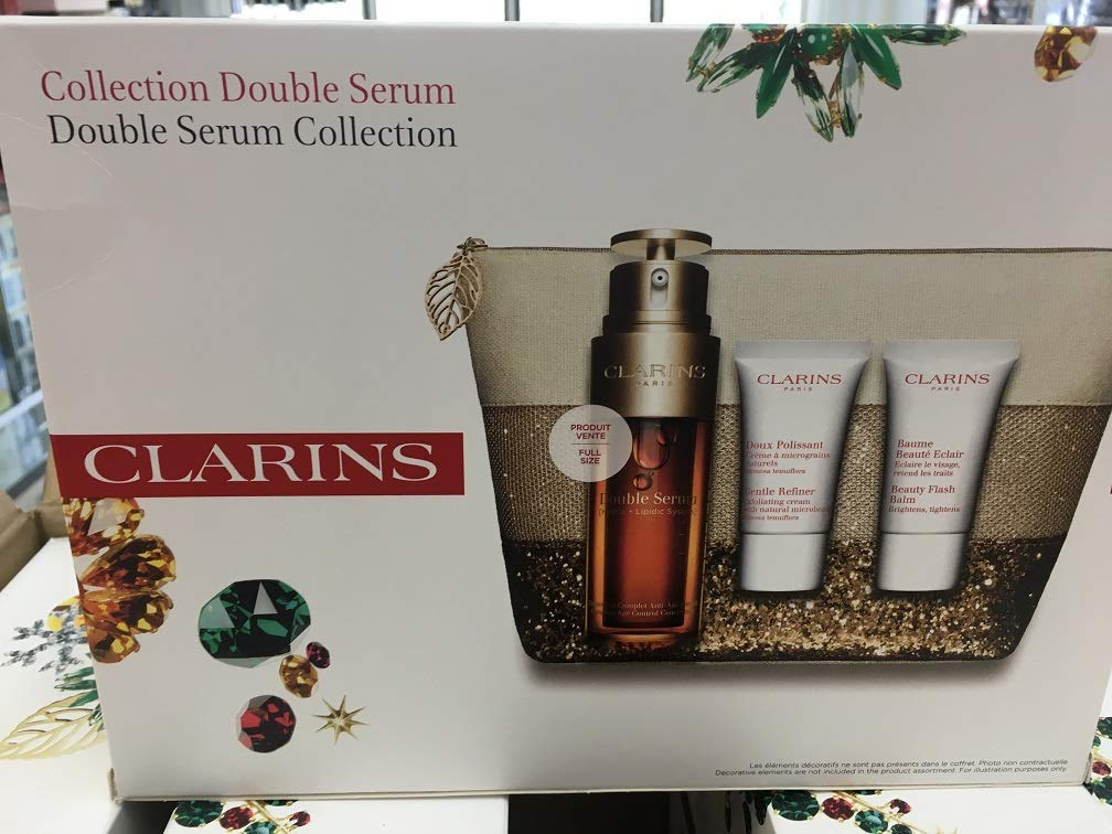 Amazon.com: Clarins Double Serum 1.6 oz 50ml + Balsamo 15ml ...