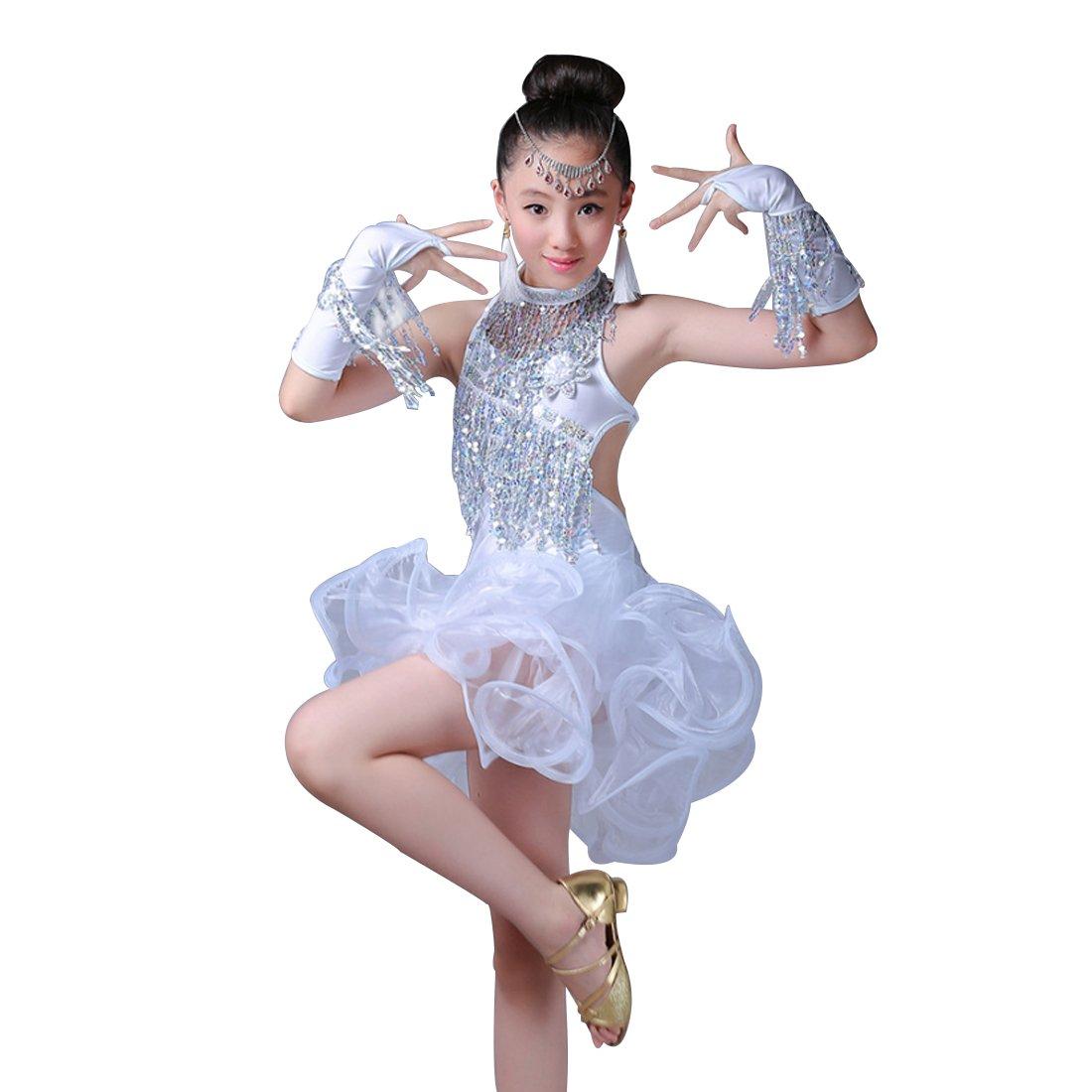 Huicai Vestido de baile latino niños trajes de baile latino ...