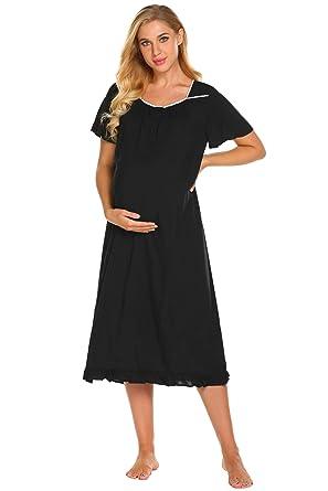 Dorekim Womens 100% Cotton Sleeveless Round Neck Long Sleepwear Nightgown  DK6808 (S) meet  Ekouaer Womens Nightgowns Vintage Style Short Sleeve  Sleepwear ... 50e55f2dc