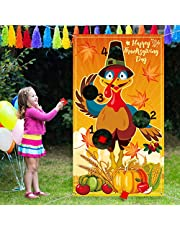Turkey Toss Game with 3 Bean Bags, Fun Indoor Outdoor Game for Kids and Adults in Thanksgiving Party Activities, Great Thanksgiving Party Decorations and Supplies (Turkey)