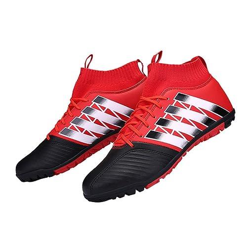Zapatos de fútbol Uñas rotas Antideslizantes Botas de fútbol Deportes  Zapatos de Entrenamiento de fútbol al Aire Libre Tacos para Adultos y niños  Zapatillas ... 346ccfb51c303