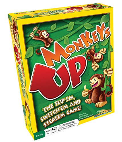 Monkeys Up Family Board Game – Kids Learn Strategy, Social Skills and Improve Memory, Math Teacher Created Educational Fun for All Ages, Children or Adults 6 Years and Up - Family Strategy Board Game