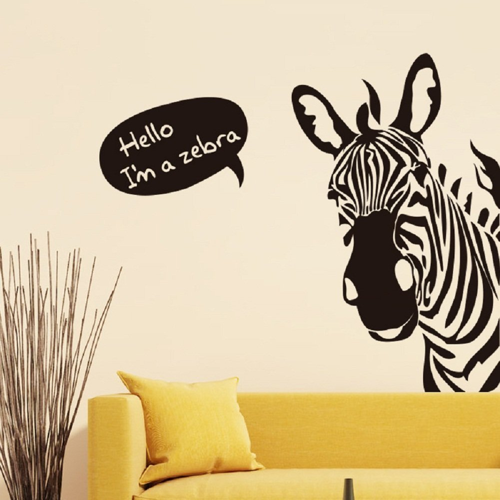 Zebra Wall Decals Kritters in the Mailbox Zebra Wall Decal
