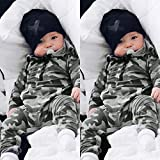 Charberry Cute Newborn Clothes Infant Baby Girl Boy Fox Print Warm Romper Jumpsuit