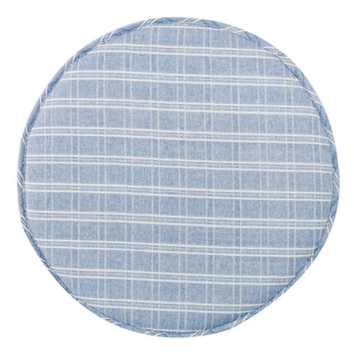Q&F Round Outdoor Chair Cushion Bistro Office Chair car seat Cushion Outdoor Patio Furniture Garden Home Office Chair Pads-Light Blue 33x33cm(13x13inch)