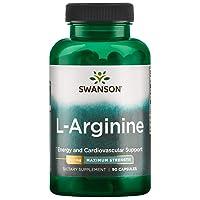Swanson Amino Acid Super-Strength L-Arginine 850 Milligrams 90 Capsules