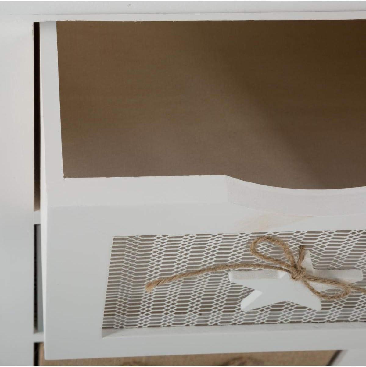 Chiffonnier 4 tiroirs /étoile H 89 cm Atmosphera
