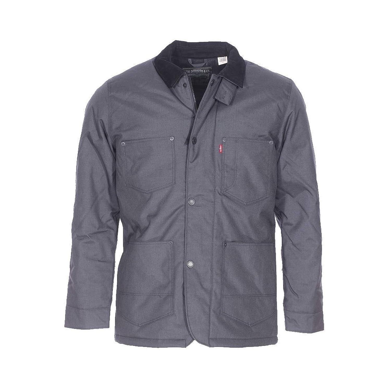 Levi's Men's Thermore Utility Coat Ebony Jacket, Grey