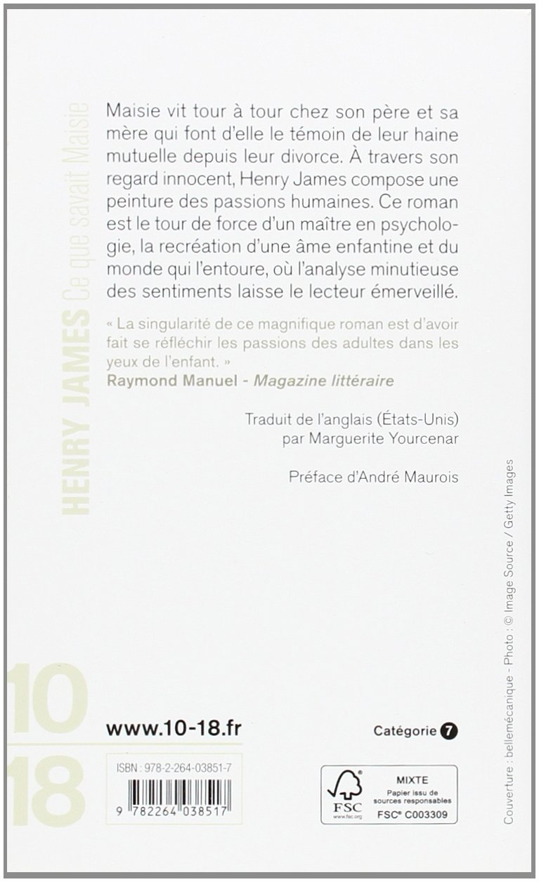 Ce que savait Maisie (French Edition): Henry James: 9782264038517 ...