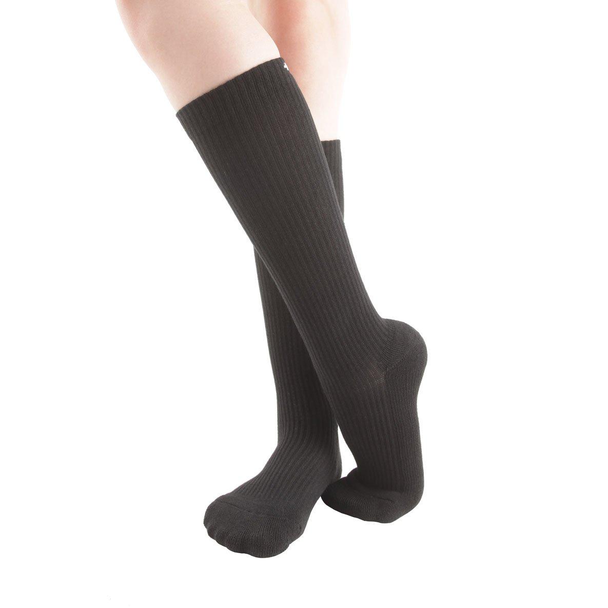 Sport 43-46EU//10-13US 6 paires de Chaussettes de Compression pour hommes et femmes Circulation /& R/établissement Augmentation de la performance Infirmiers BlackL