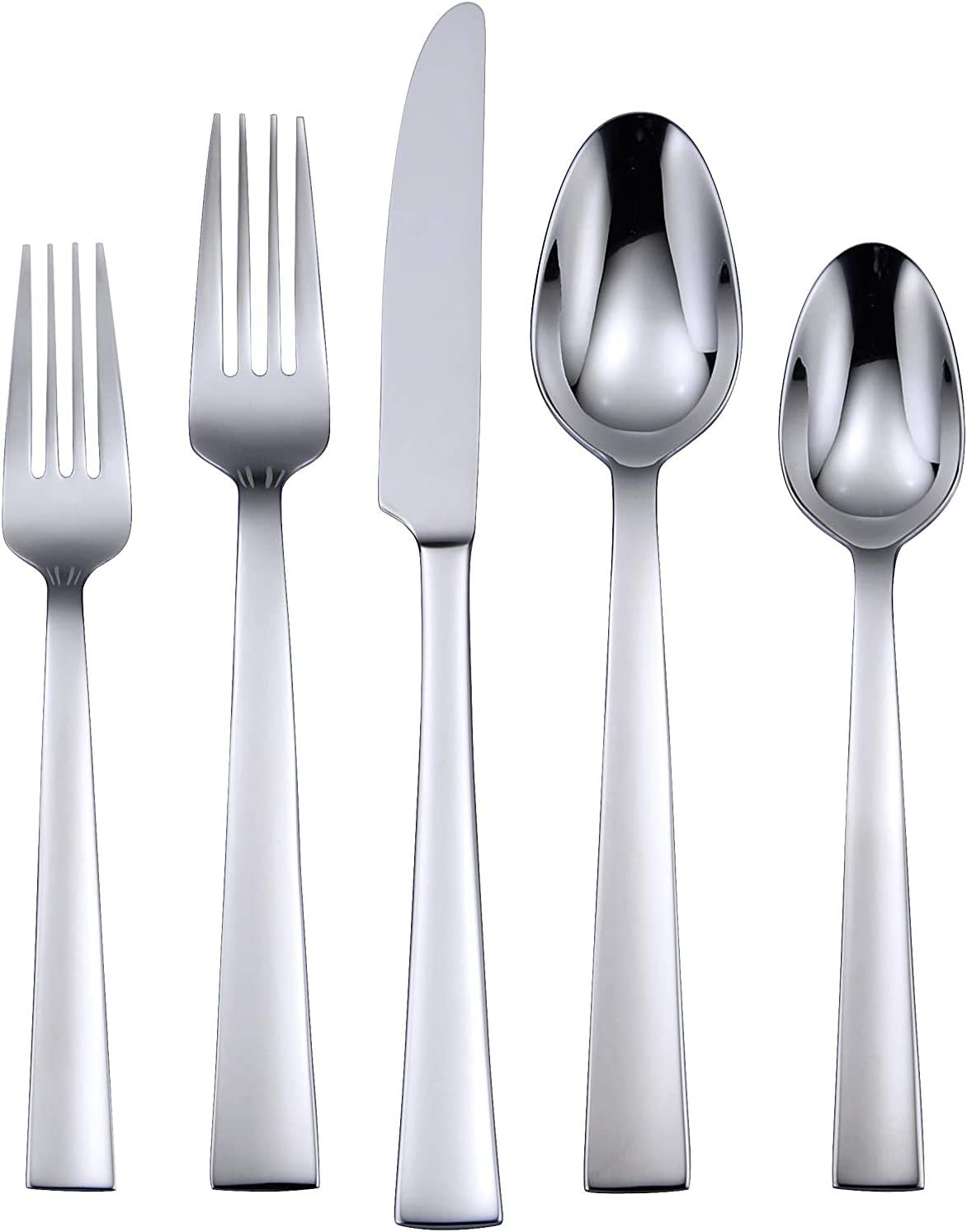 Oneida Madison Avenue 20 Piece Everyday Flatware 18/0 Stainless Steel, Service for 4, Silverware Set