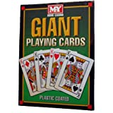 New Plastic Coated Giant A4 Playing Cards 52 Deck 21cmx28cm