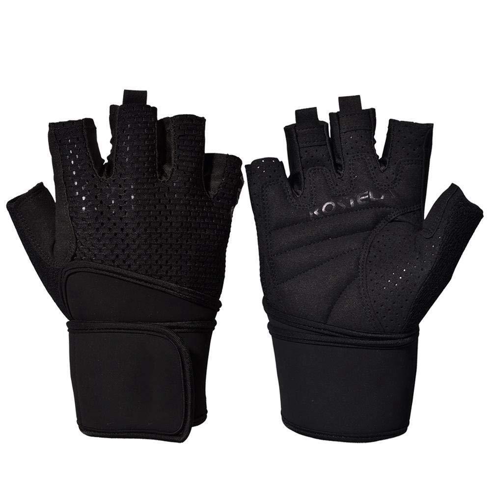 Ambiguity Sport Handschuhe Gewichtheben Handschuhe für Männer und Frauen-Anti-Slip Halb-Atmungsaktive Fingerhandschuhe