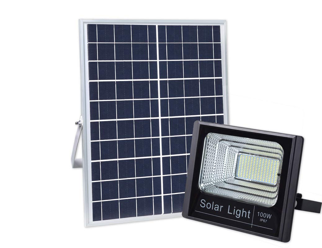 100w Solar Powered Street Flood Lights 196 Leds 5 000