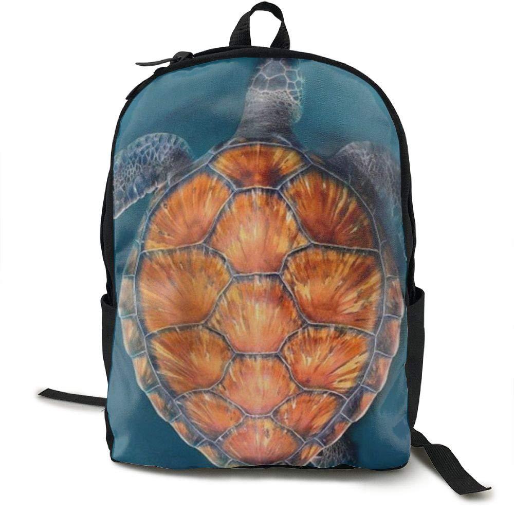 Malsjk8 Turtle2 スクールバッグ キャンバス ブックバッグ スクールバックパック ペンバッグ付き 男の子 女の子用   B07G82YLDV