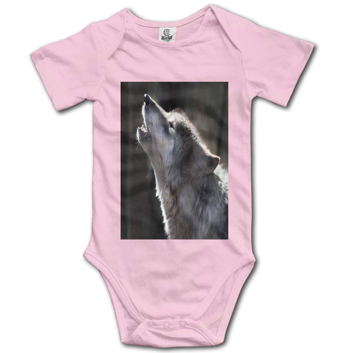 Forest Sunshine Wolf Boys /& Girls Black Short Sleeve Romper Bodysuit Outfits for 0-24 Months