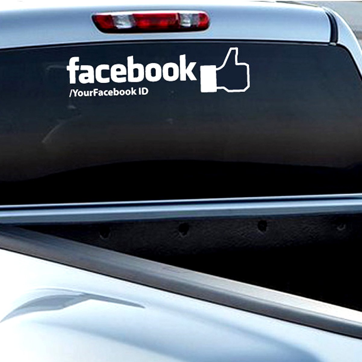Amazon com custom facebook personalized car wall vinyl decals stickers 15 inches home kitchen