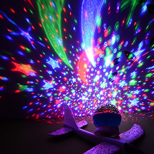 Star Sky Moon Projector Multicolor Led bulbs Or Single Color.Blue Red and Green Color Changing Led Night Light Lamp Decorative Light Mood Light in Bedroom(B4, BLUE) (Christmas B4 Night)