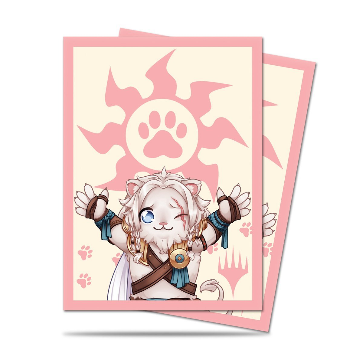 Ultra Pro Magic: The Gathering Chibi Collection Ajani Lion Hug Deck Protector Sleeves (100 Count)