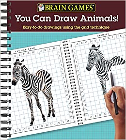 Amazon Com Brain Games You Can Draw Animals Easy To Do Drawings