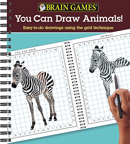 Brain Games® You Can Draw Animals! Easy-To-Do Drawings Using the Grid Technique [Editors of Publications International Ltd.] (Tapa Blanda)
