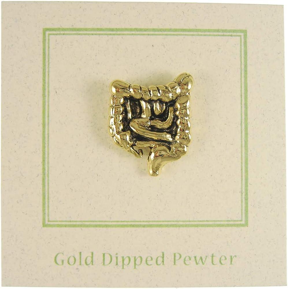 Jim Clift Design Intestines Gold Lapel Pin