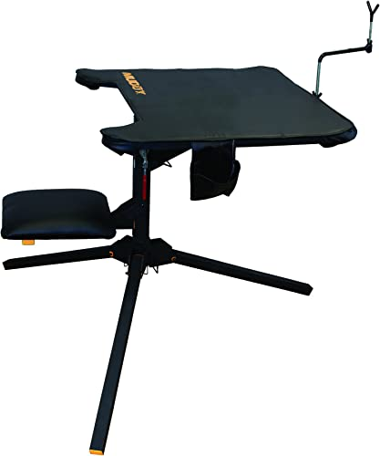 Muddy Swivel-Action Shooting Bench, Black
