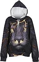 OAKBaby Unisex Realistic 3D Print Big Pocket Drawstring Hoodie Sweatshirt Pullover Hooded