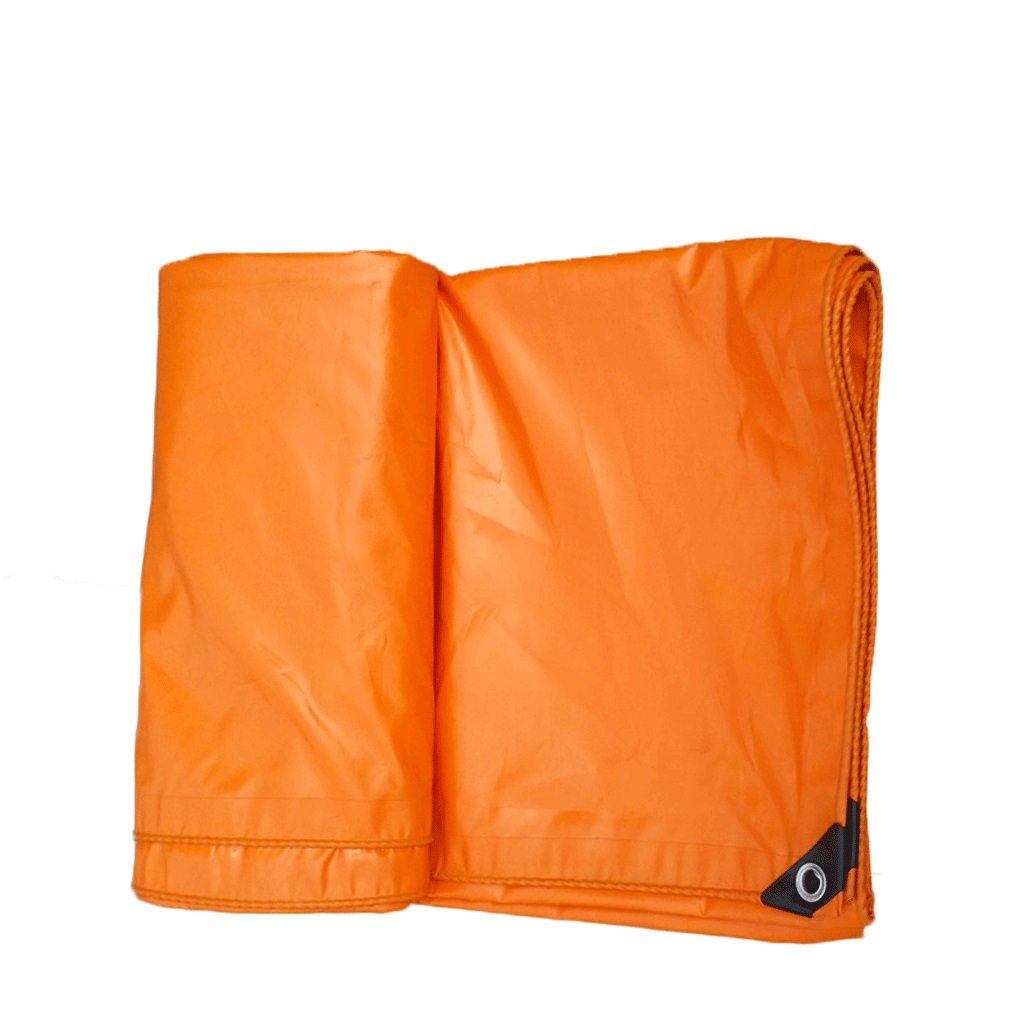 Qing MEI Große Orange LKW-Plane Leinwand Dachgartenarbeit Falter spezielle Isolierung Frost Tuch PVC-Plane 100% wasserdicht UV A+ (größe   3 x 6 Meters)
