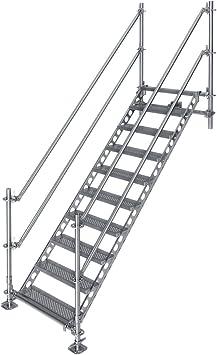 Scafom-rux - Escalera (2 m, para uso comercial y privado): Amazon.es: Bricolaje y herramientas
