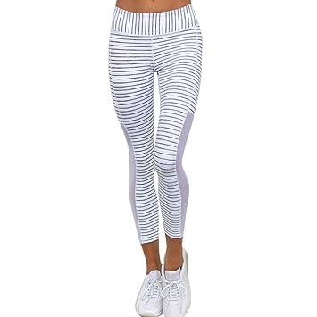 Mujer Skinny Fitness Leggings Pantalones Deportiva niña Leggins Push up Cintura Alta Mallas de Yoga Pantalones atléticos Fitness Deportivos Mujer ...