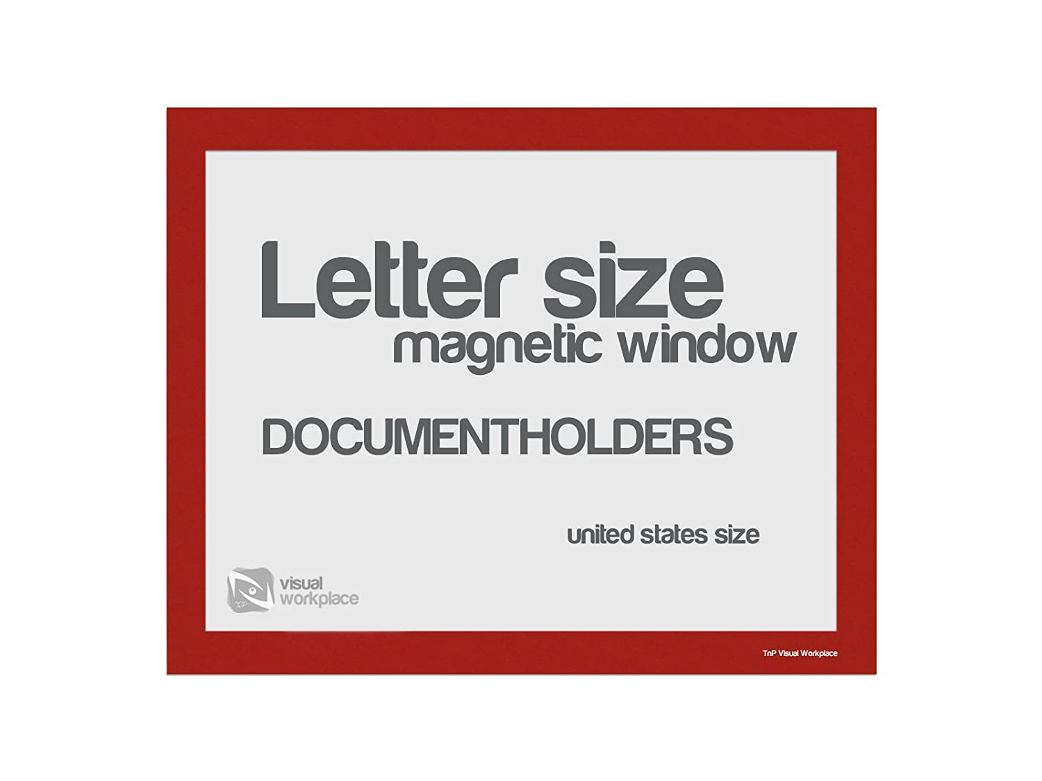 Magnetic Window Document Holder, Letter, Green, Pack of 5 TnP Visual Workplace