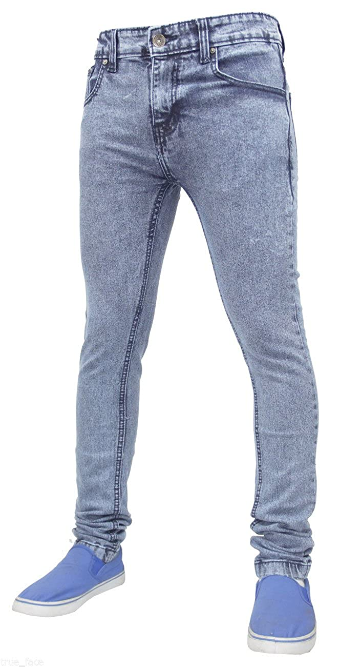 d9938971846 True Face Mens Denim Skinny Stretch Jeans Slim Fit Trousers Pants:  Amazon.co.uk: Clothing