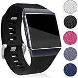 Fitbit Ionic Band Replacement Band Silicone Wristband, Women Men Adjustable Replacement Straps for Fitbit Ionic Tracker(Large, Black)