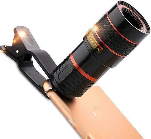Universal 8x Objetivo de Cámara Zoom Teléfono Móvil Telescopio Clip para Apple