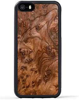 product image for iPhone 5 / 5s / SE Redwood Burl Wood Traveler Case by Carved, Unique Real Wooden Phone Cover (Rubber Bumper, Fits Apple iPhone 5 / 5s / SE)