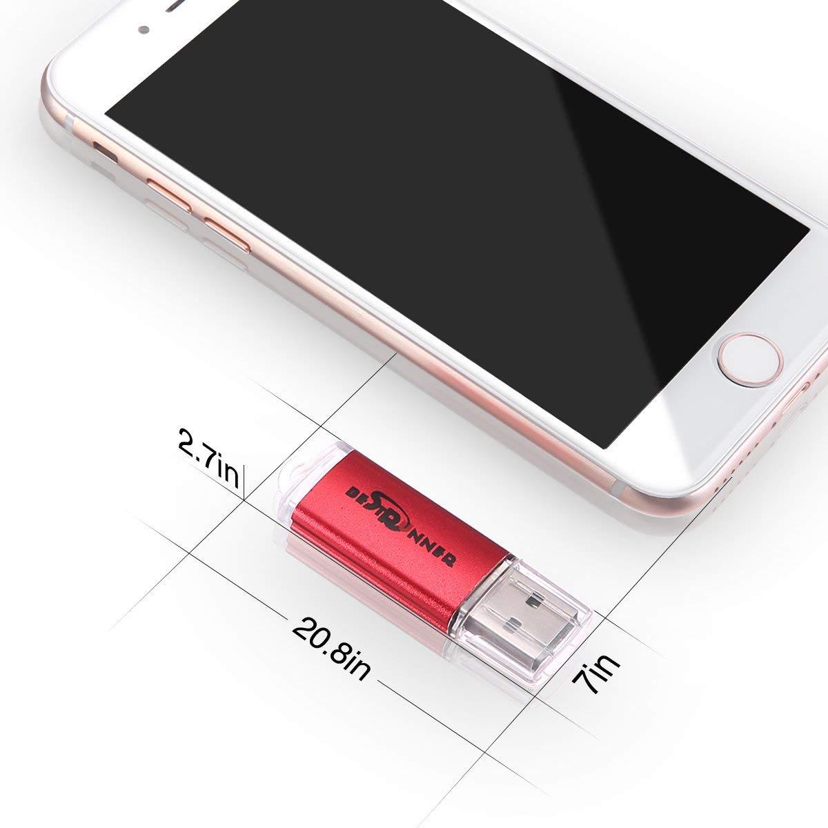 Red BestRunner 10Pcs USB Flash Drive USB 2.0 Memory Stick Pen Drive USB Storage Thumb Stick 256MB Small Capacity NOT 256GB
