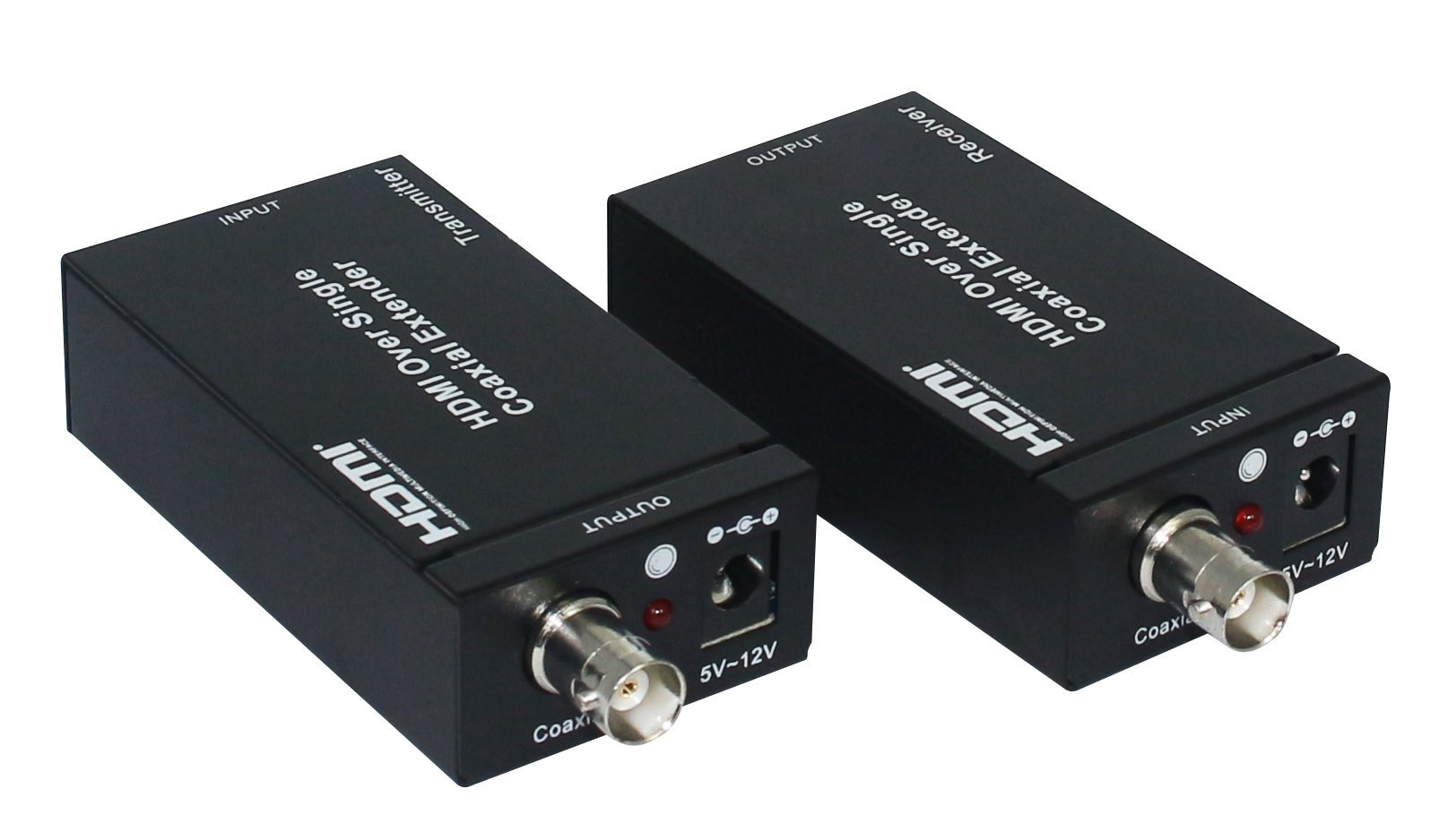 Eazy2hD HDMI Extenders Over Single RG6 Coaxial Cable up to 100m/328ft Support IR Remote Control - US Plug