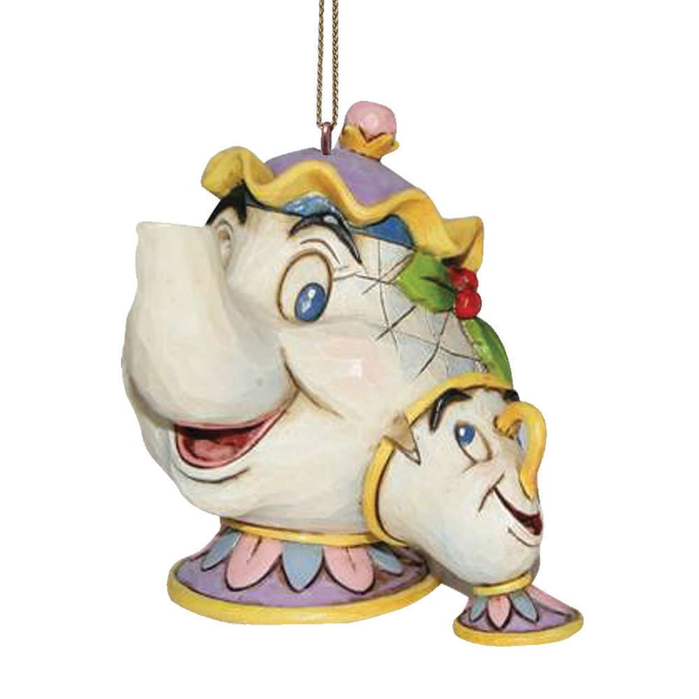 Disney Traditions Beauty and the Beast Mrs Potts/Chip Hanging Ornament Enesco A21431