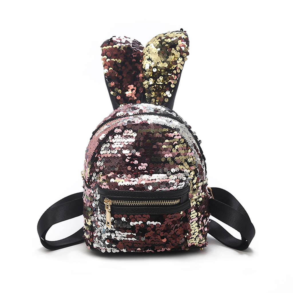 190fc62370b Shoresu backpack for kids women girls kid sequin backpack school bags mini  small backpack champagne gold